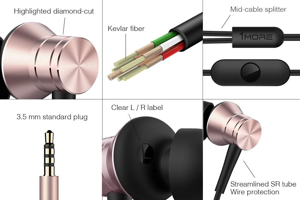 1MORE Piston Fit Earphones with MIC-Pink