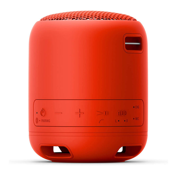 Sony SRS-XB12 Wireless Extra Bass Bluetooth Speaker with 16 Hours Battery Life (Red)