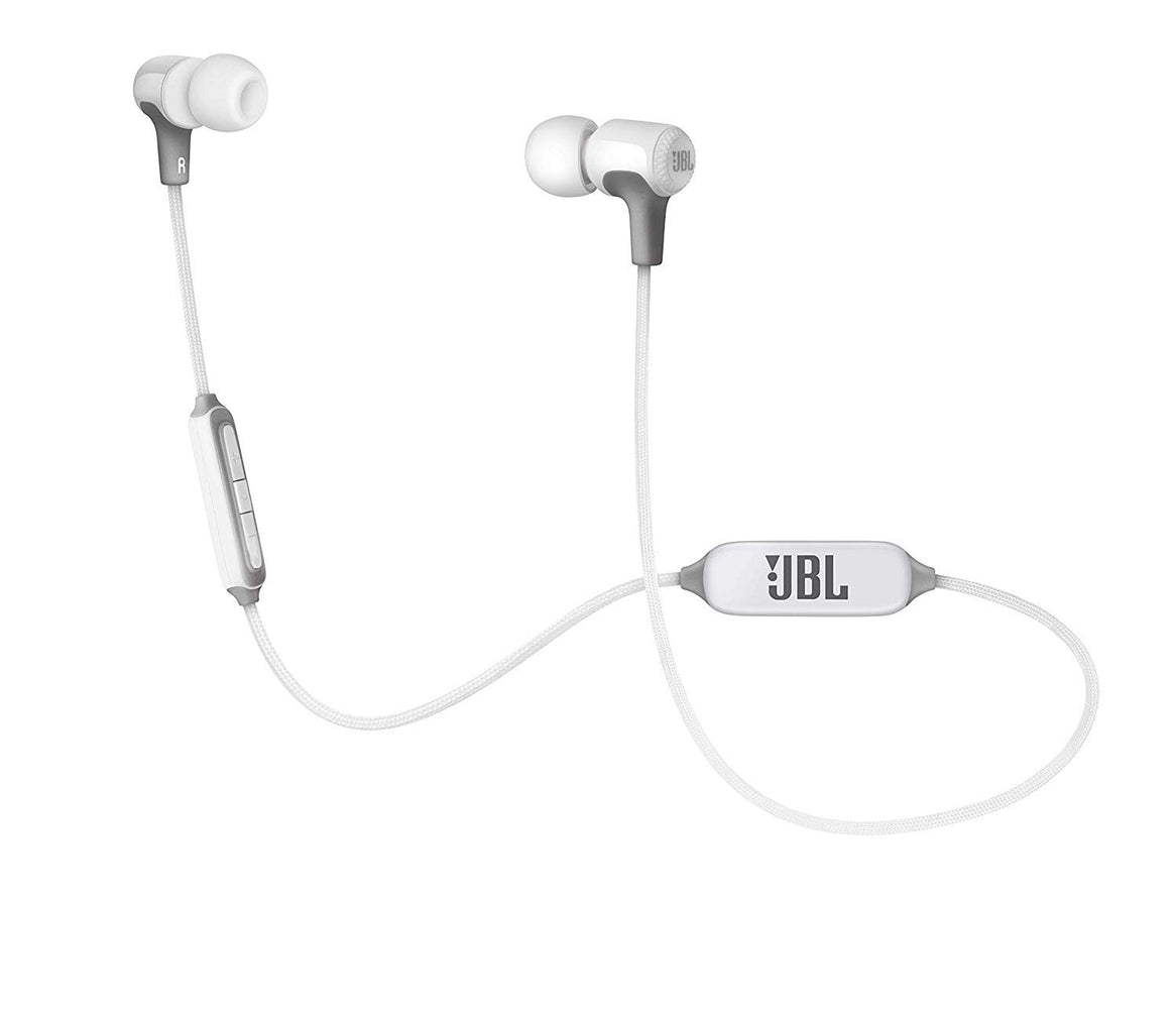JBL E25BT Signature Sound Wireless in-Ear Headphones with Mic (White)