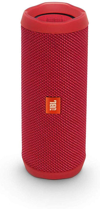 JBL Flip 4 Portable Wireless Speaker with Powerful Bass & Mic (Red)