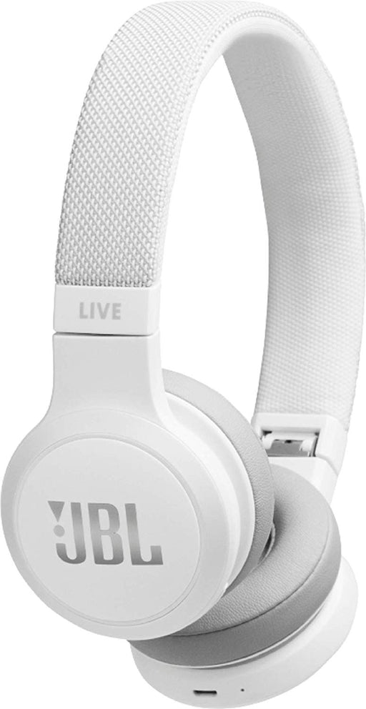 JBL Live 400BT Wireless On-Ear Voice Enabled Headphones with Alexa (White)