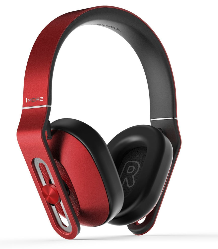 1MORE Over-Ear Headphones with MIC & Volume Rockers- Red MK801