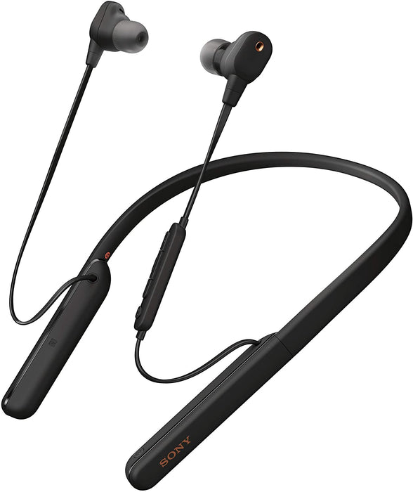 Sony WI-1000XM2 Premium Wireless in-Ear Neck Band Noise Cancellation Headphones with mic for Phone Calls with Alexa - (Black)