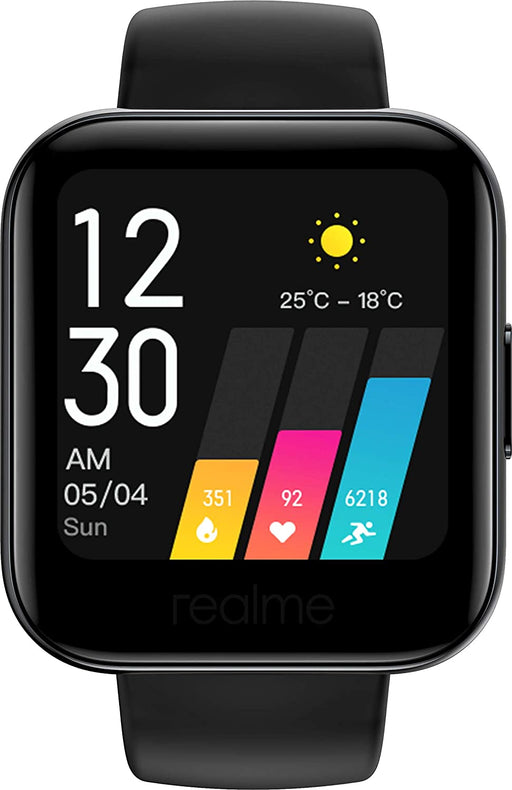 Realme Watch (Black Strap, Fashion)