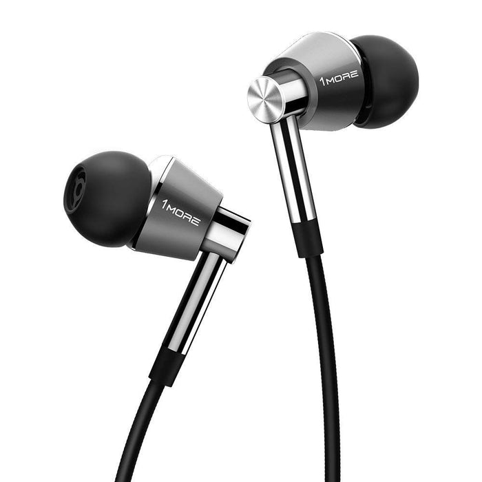 1MORE Triple Driver Earphone with Mic - Titanium