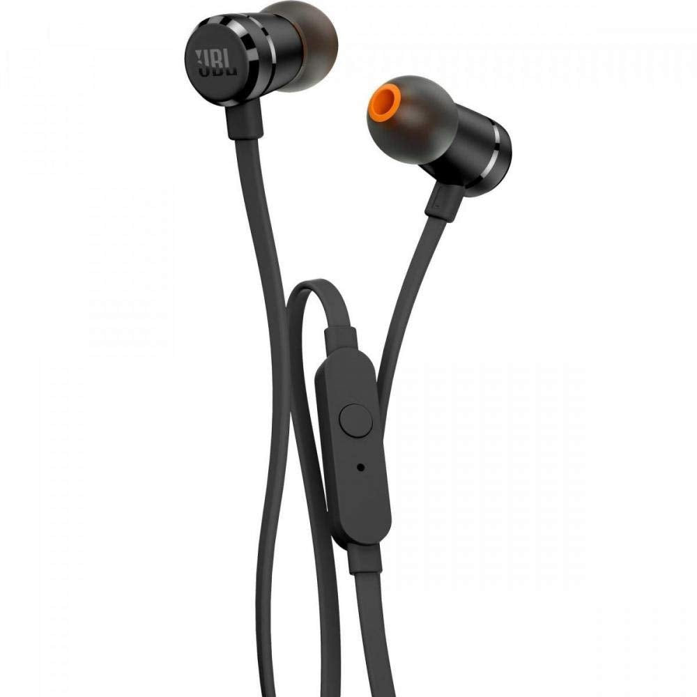 JBL T290 Pure Bass All Metal in-Ear Headphones with Mic (Black)