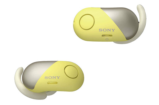 Sony WF-SP700N Truly Wireless Sports Headphones with Noise Cancelling and IPX4 Splash Proof (Yellow)