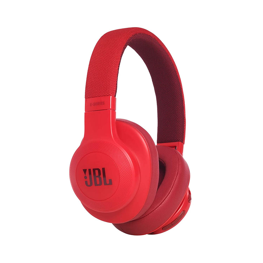 JBL E55BT Signature Sound Wireless Over-Ear Headphones with Mic (Red)