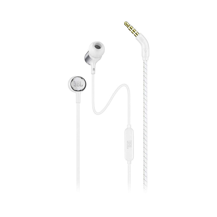 JBL LIVE100 in-Ear Headphones with in-Line Microphone and Remote (White)
