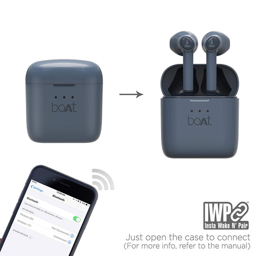 boAt Airdopes 131 Twin Wireless Earbuds with IWP™ Technology (Midnight Blue)