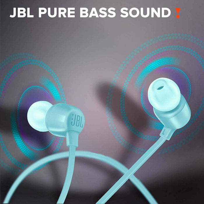JBL Tune 165BT in-Ear Wireless Headphones with Dual Equalizer, 8-Hour Battery Life and Quick Charging (Teal)