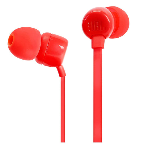 JBL Tune 110 in-Ear Headphones with Mic (Red)