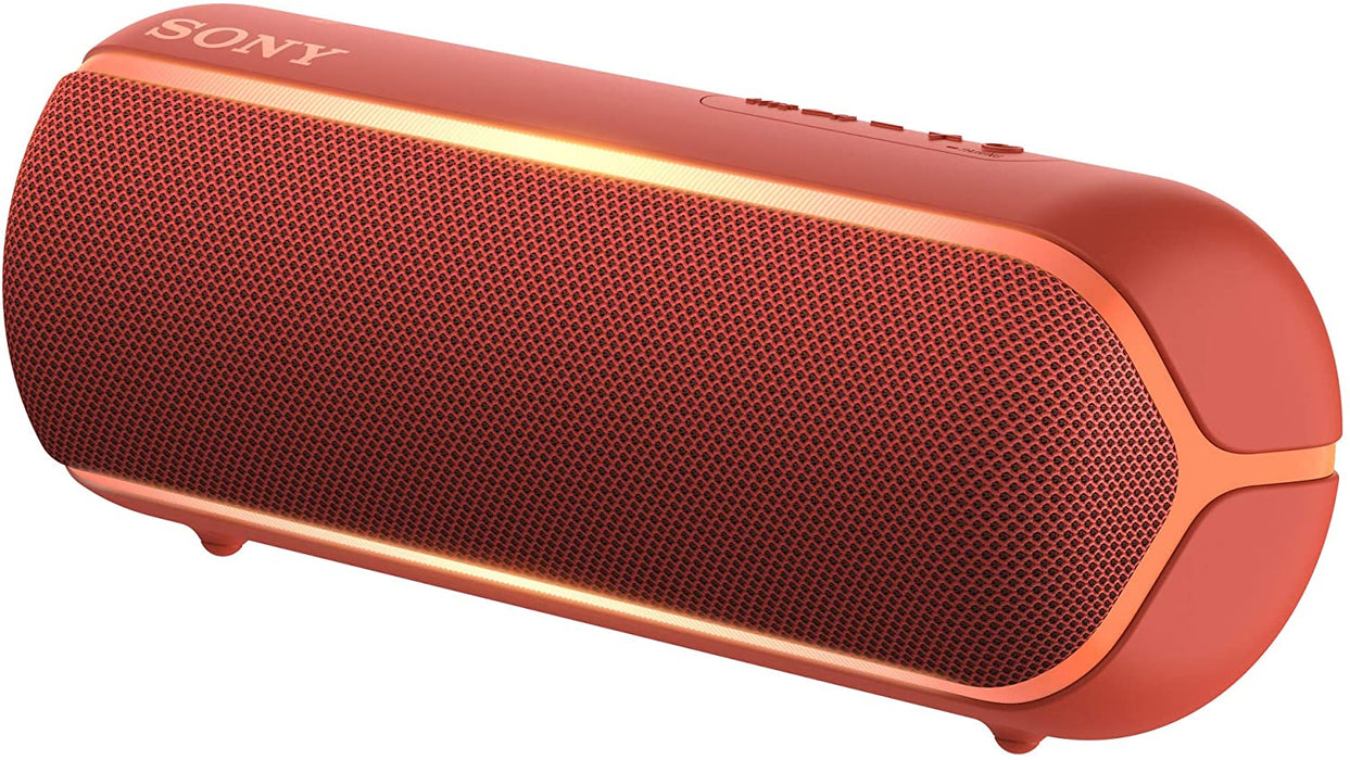 Sony SRS-XB22 Wireless Extra Bass Bluetooth Speaker with 12 Hours Battery Life (Red)