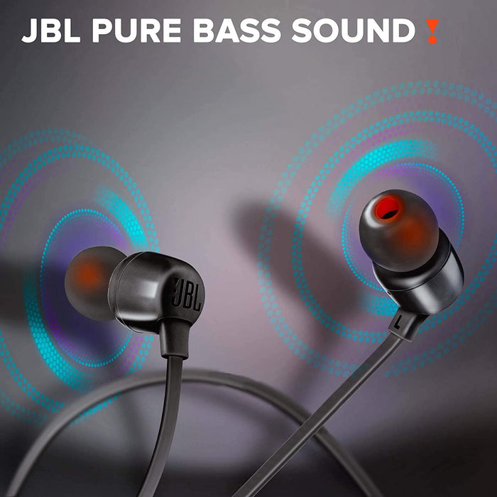 JBL Tune 165BT in-Ear Wireless Headphones with Dual Equalizer, 8-Hour Battery Life and Quick Charging (Black)