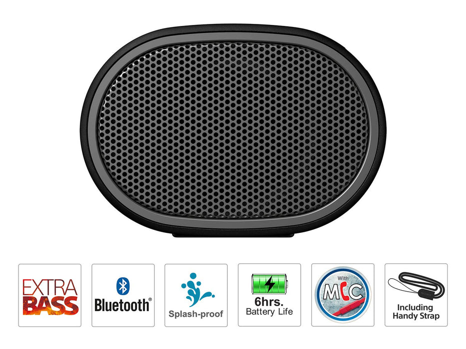 Sony SRS-XB01 Wireless Extra Bass Bluetooth Speaker with 6 Hours Battery Life (Black)