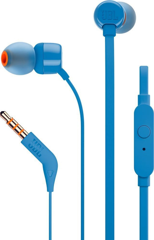 JBL Tune 110 in-Ear Headphones with Mic (Blue)