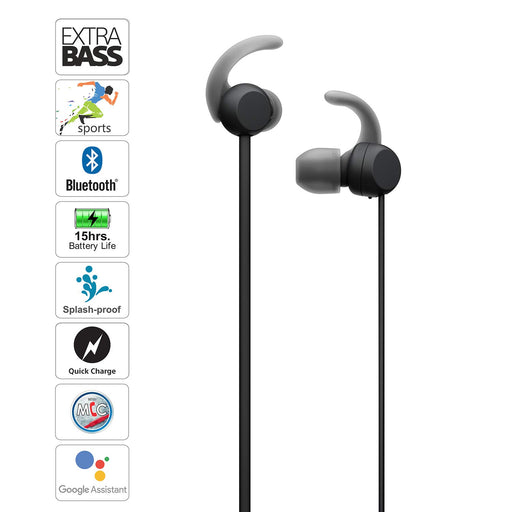 Sony WI-SP510 Wireless Sports Extra Bass in-Ear Headphones  Black