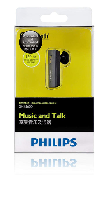 Philips SHB1600 Bluetooth Earbud Headset (Silver)