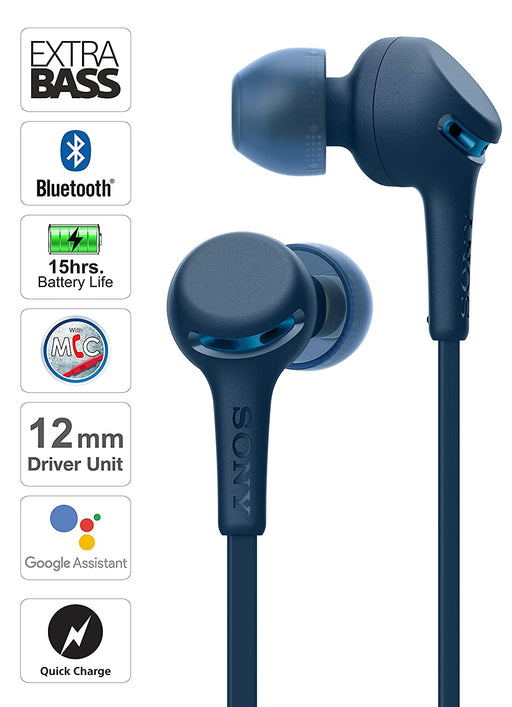 Sony WI-XB400 Wireless Extra Bass in-Ear Headphones with 15 Hours Battery Life (Blue)