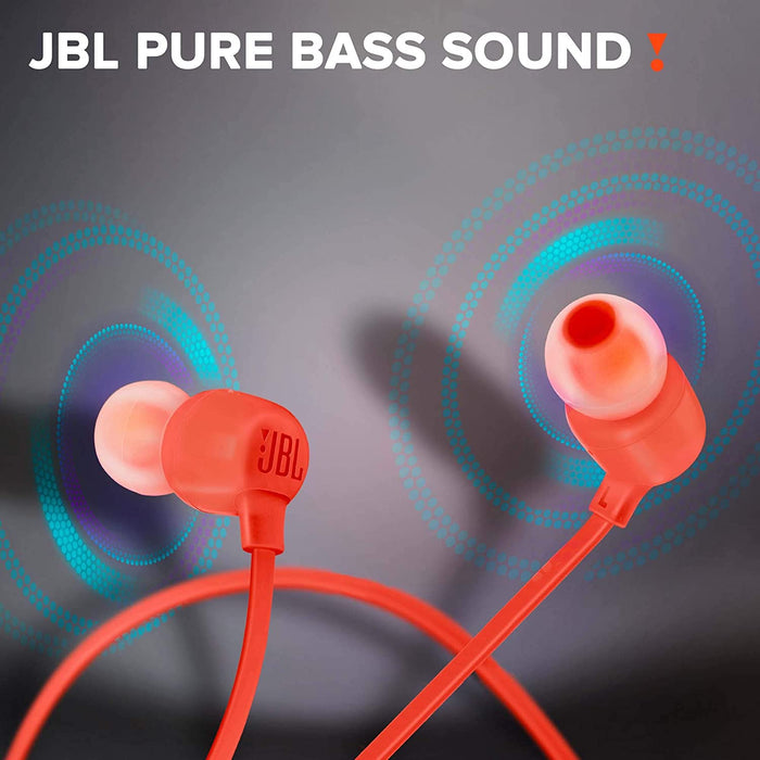 JBL Tune 165BT in-Ear Wireless Headphones with Dual Equalizer, 8-Hour Battery Life and Quick Charging (Coral)