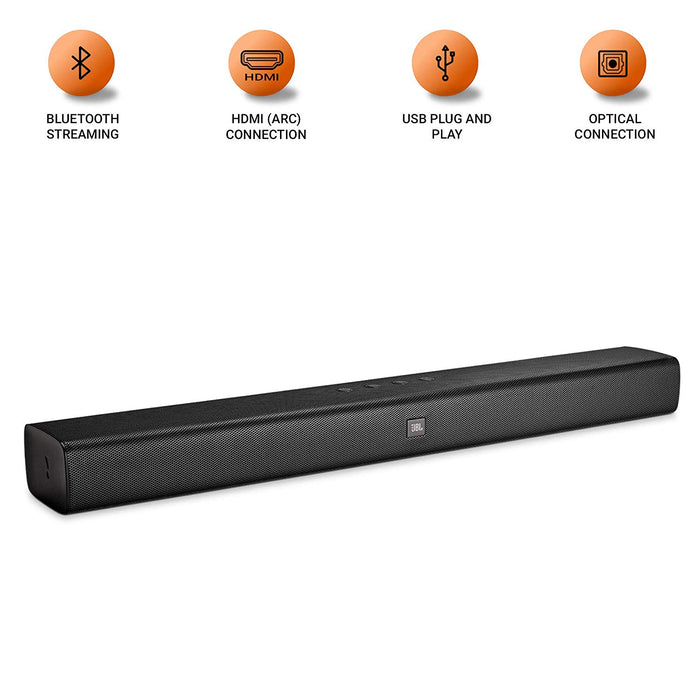 JBL Bar Studio Wireless Soundbar with Built-in Dual Bass Port (Black)