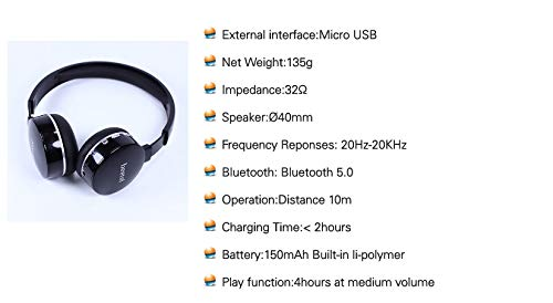 Beetel Bluetooth Headphone B74 with Mic Black