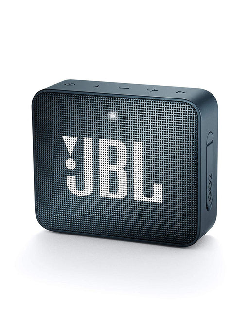 JBL Go 2 Portable Waterproof Bluetooth Speaker with mic (Slate Navy)