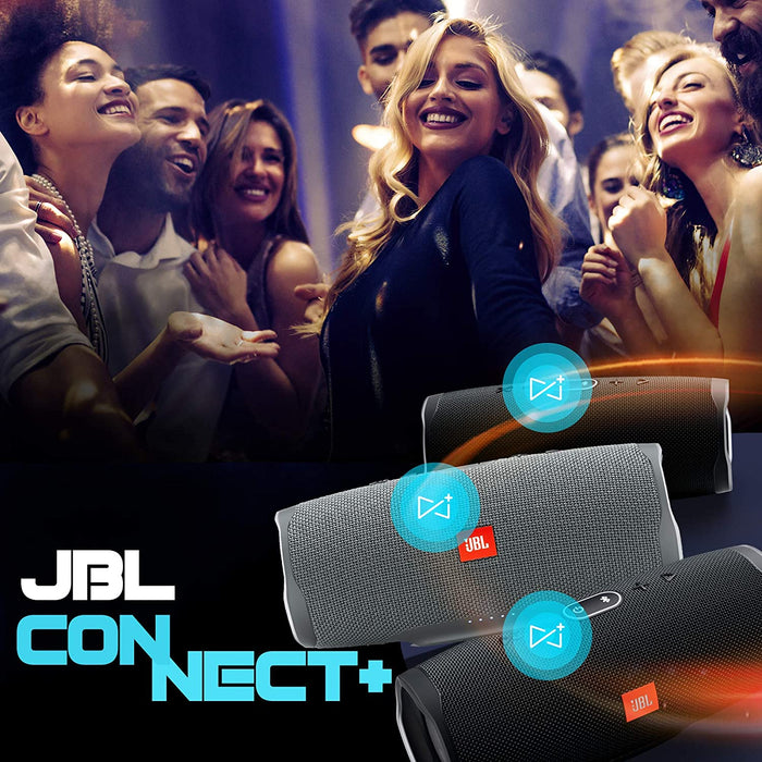 JBL Charge 4 Powerful 30W IPX7 Waterproof Portable Bluetooth Speaker with 20 Hours Playtime & Built-in 7500 mAh Powerbank (Grey)