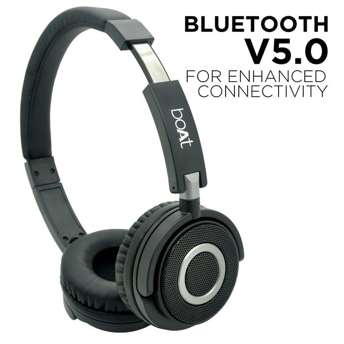 boAt 900 Wireless V2 On-Ear Headphones (Charcoal Black)