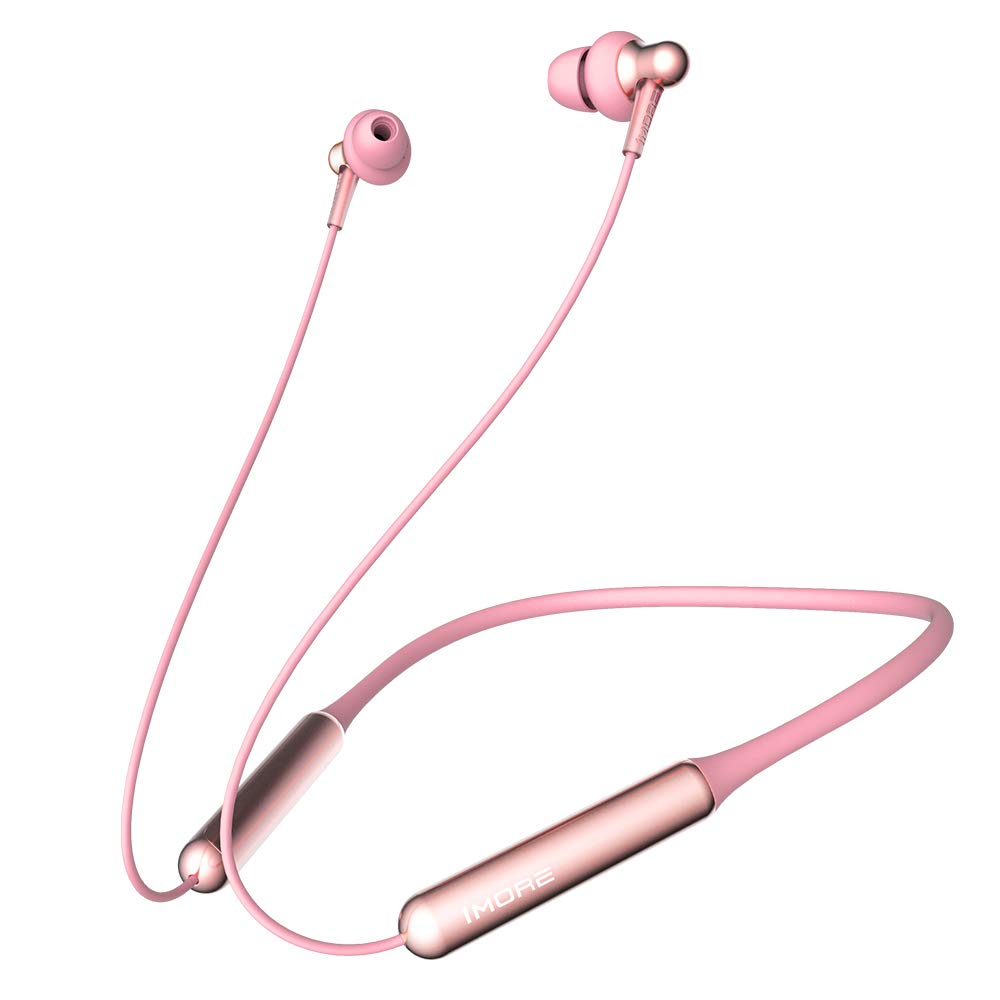 1MORE Dual Driver Bluetooth Earphone with Mic - Pink (Neckband Style)