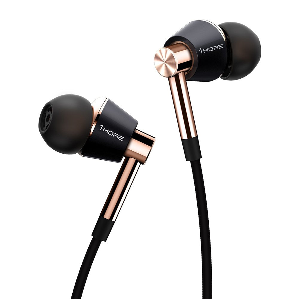 1MORE Triple Driver Earphone with Mic - Gold