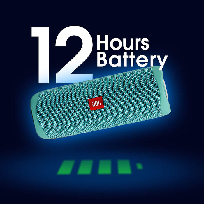 JBL Flip 5 20 W IPX7 Waterproof Bluetooth Speaker with PartyBoost (Without Mic, Teal)