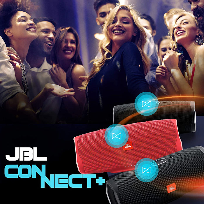 JBL Charge 4 Powerful 30W IPX7 Waterproof Portable Bluetooth Speaker with 20 Hours Playtime & Built-in 7500 mAh Powerbank (Red)