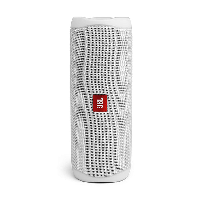 JBL Flip 5 20 W IPX7 Waterproof Bluetooth Speaker with PartyBoost (Without Mic, White)
