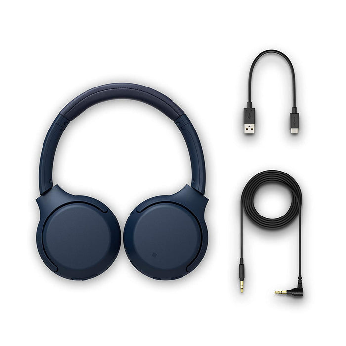 Sony WH-XB700 Wireless Bluetooth Extra Bass Headphones with 30 Hours Battery Life (Blue)