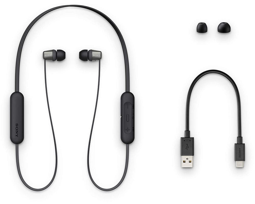 Sony WI-C310 Wireless in-Ear Headphones with 15 Hours Battery Life (Black)