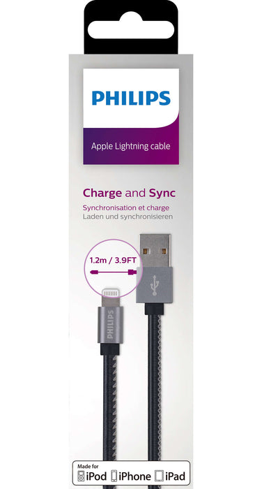 Philips iPhone Lightning to USB cable DLC2508B/97 (Black)