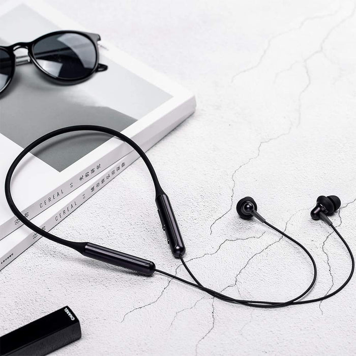 1MORE Stylish Dual Dynamic Driver Bluetooth Earphone with Mic - Black (Neckband Style)