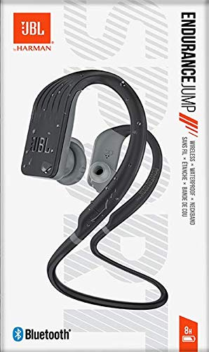 JBL Endurance Jump Waterproof Wireless Sport in-Ear Headphones with One-Touch Remote (Black)