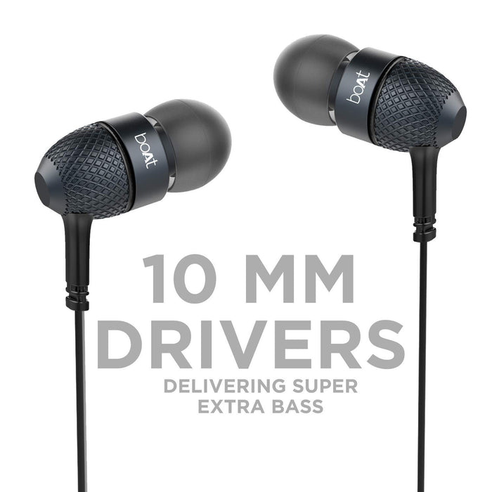 boAt BassHeads 220 in-Ear Super Extra Bass Headphones (Black)