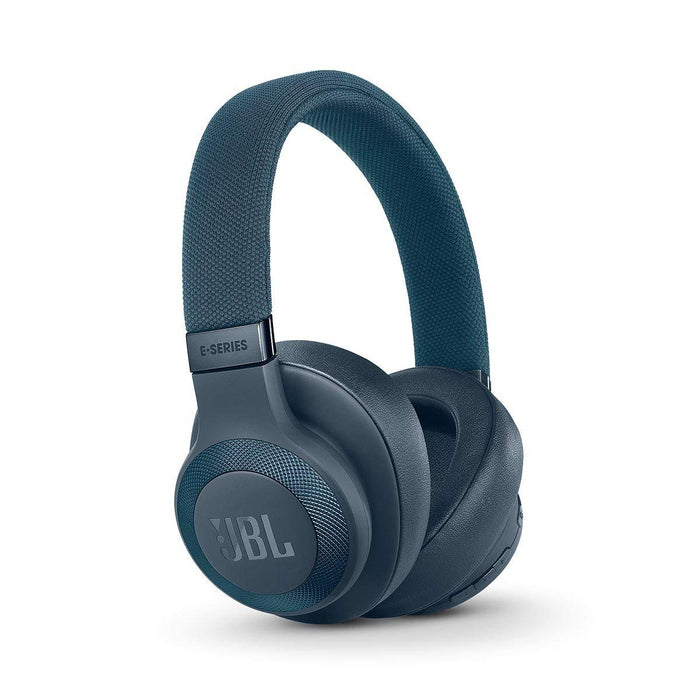 JBL E65BTNC Wireless Over-Ear Active Noise Cancelling Headphones (Blue)
