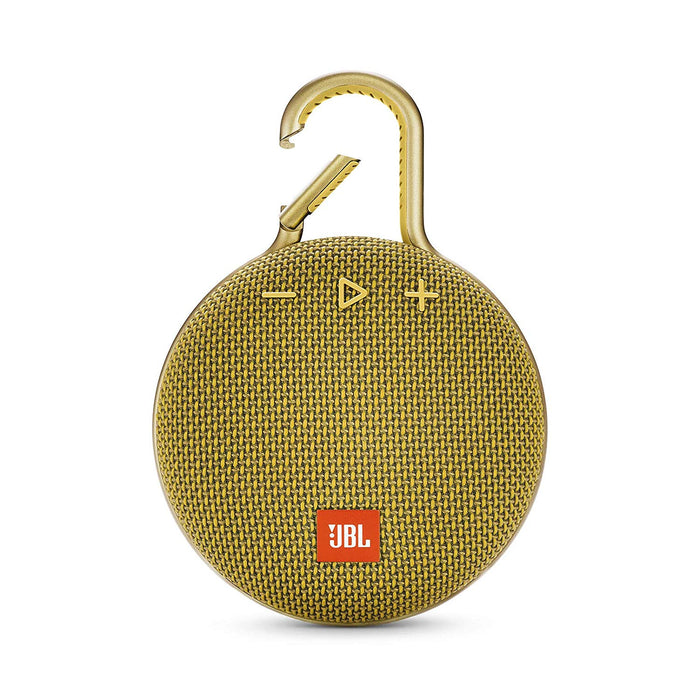 JBL Clip 3 Ultra-Portable Wireless Bluetooth Speaker with Mic (Yellow)