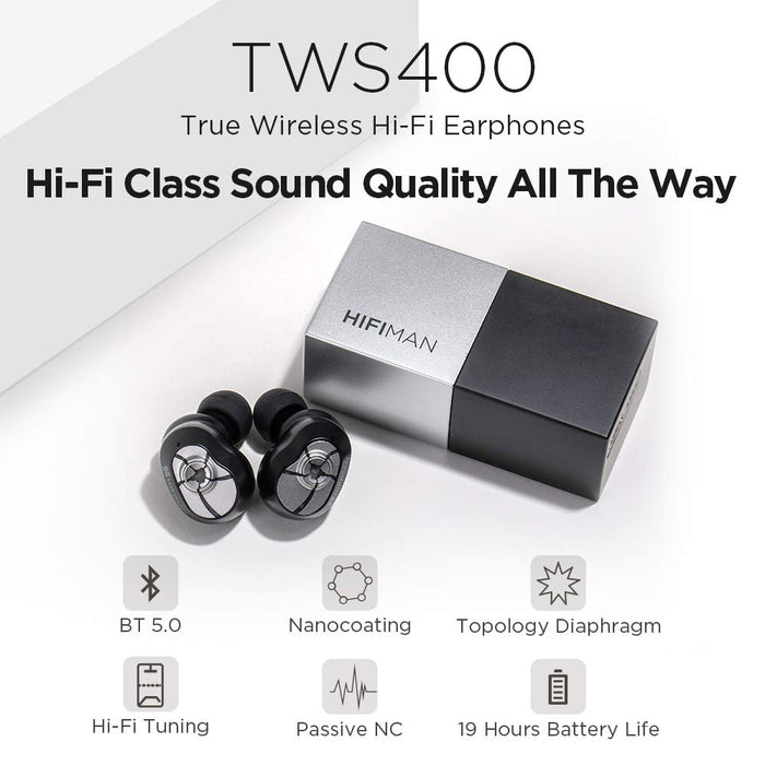 HIFIMAN TWS400 True Wireless HiFi Waterproof Noise-Isolated Sports TWS