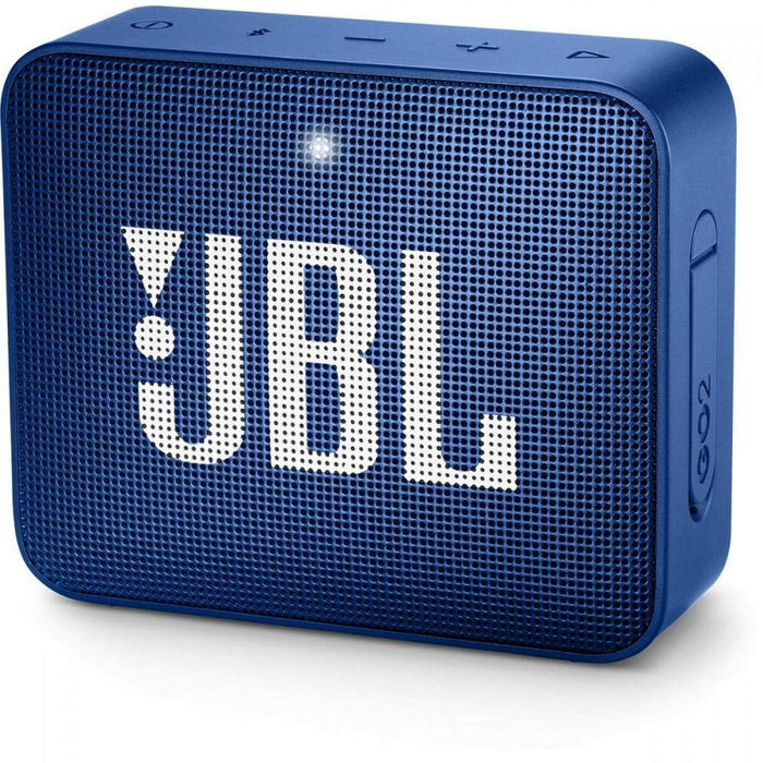JBL Go 2 Portable Waterproof Bluetooth Speaker with mic (Deep Sea Blue)