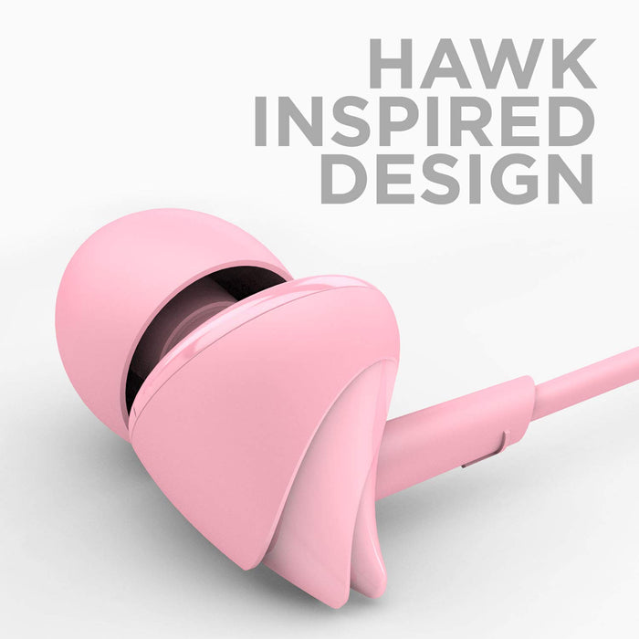 boAt BassHeads 110 Hawk Inspired Earphones with Mic (Taffy Pink)