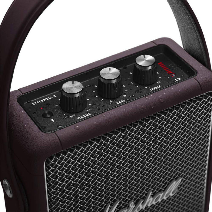 Marshall Stockwell II Portable Speaker Burgundy