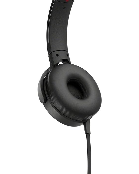 Sony MDR- XB550AP Extra Bass On-Ear Headphone, BLACK