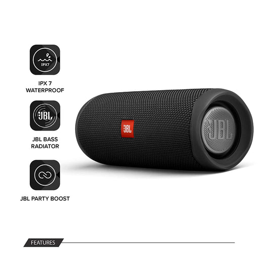 JBL Flip 5 20 W IPX7 Waterproof Bluetooth Speaker with PartyBoost (Without Mic,