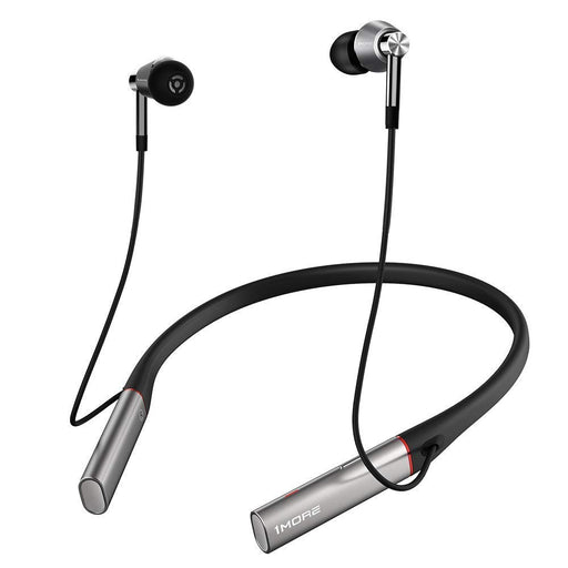 1MORE Triple Driver Wireless Bluetooth Earphone With ENC Mic- Silver (Neckband style)