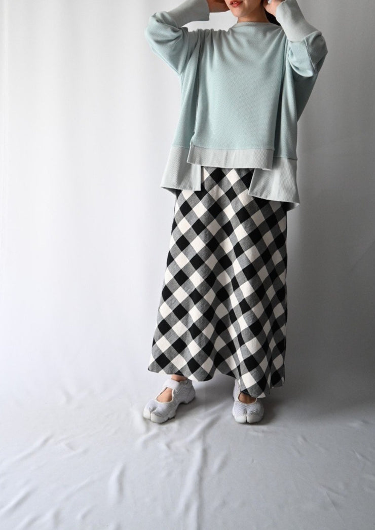 Block check skirt/K211-65021